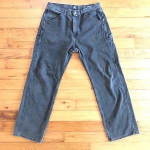 VTG Nautica Black Faded Baggy Tactical Pants 36x33